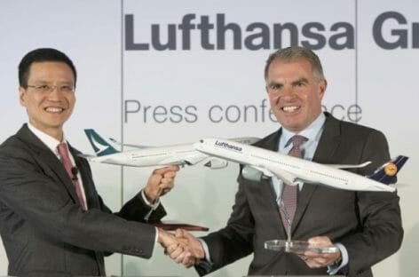Cathay Pacific-Gruppo Lufthansa, accordo di codeshare