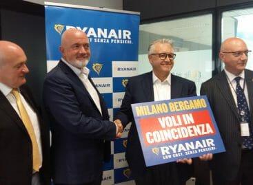 Ryanair lancia i voli in connessione anche da Bergamo