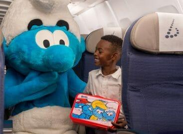 Nel 2018 i Puffi sulla livrea di Brussels Airlines