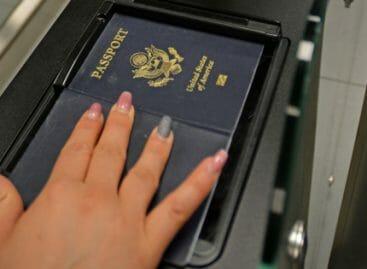 A Fiumicino controllo passaporti Usa in 20 secondi