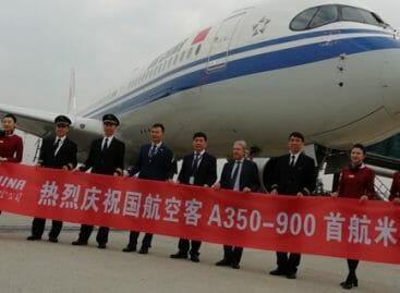 Air China, a Milano il debutto internazionale dell'A350-900