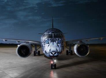 Air Astana, il nuovo aereo vestito da leopardo delle nevi
