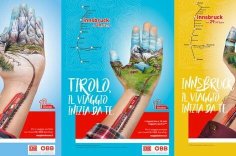 """Db-Öbb, al via la campagna """"in un palmo di mano"""" per i 10 anni in Italia"""