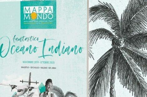 Mappamondo, catalogo dedicato all'Oceano Indiano per la winter