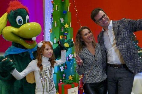 Natale a Gardaland con l'albero di mattoncini Lego