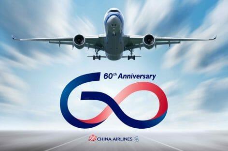 Logo e livrea speciali per i 60 anni di China Airlines