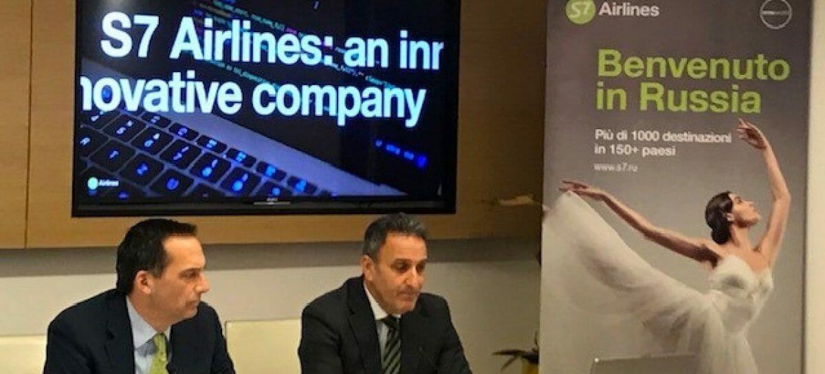 S7 Airlines, anno record a Verona con oltre 1.000 voli