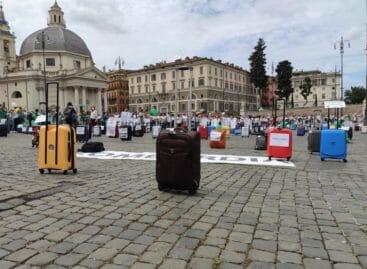 Anno nuovo, protesta nuova:<br> il travel in piazza a Roma