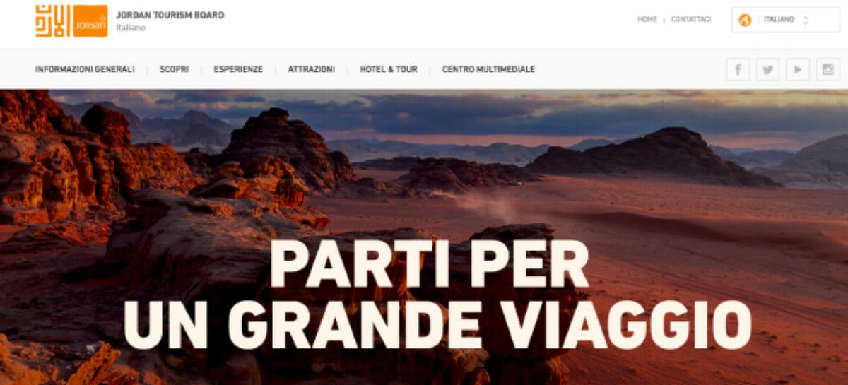 Tour, social e chat: il Jordan Tourism Board rinnova il sito web