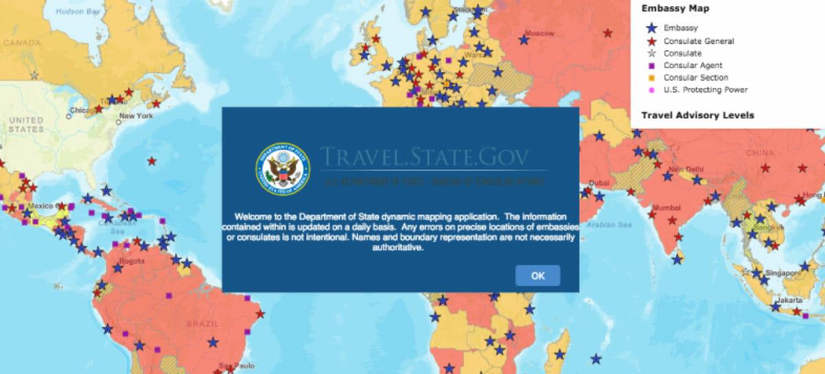 Gli Usa tolgono il warning per i viaggi all'estero