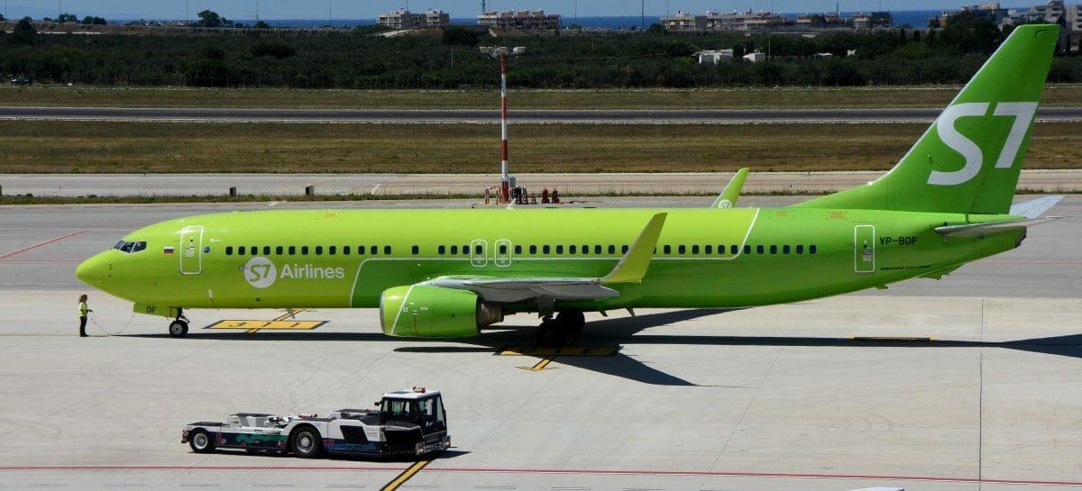 S7 Airlines, da marzo torna la rotta Bari-Mosca