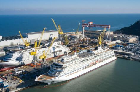 Silversea, float out di Silver Dawn ad Ancona