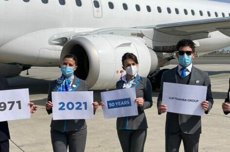 Lufthansa e Torino Airport celebrano i 50 anni del primo volo