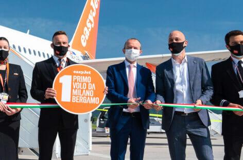 easyJet debutta a Bergamo e lancia la sfida a Ryanair