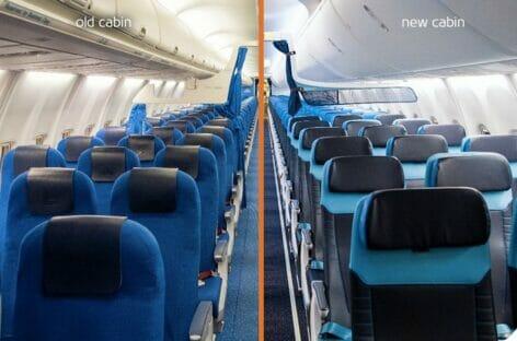 Klm rinnova le cabine dei Boeing 737-800 per il medio raggio
