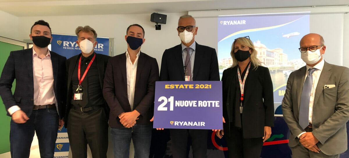 Ryanair amplia le rotte internazionali dalla Puglia